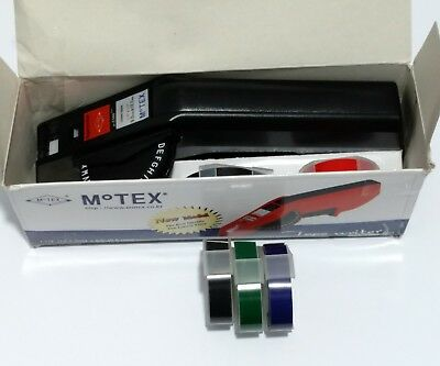 Motex E-5500 Black Emoticon, Letter, Number Tape Writer/ Label Maker + 5 Rolls
