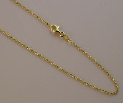 db9add2c14deb ITALY SOLID STERLING Silver Chain Necklace-14K Gold Vermeil- 1mm~2mm ...