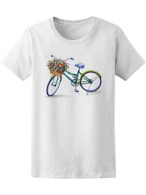 Bicycle With Flower Basket  Women's Tee -Image by Shutterstock