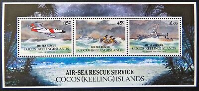 1993 Cocos Keeling Island Stamps - Air-Sea Rescue Service - Mini Sheet MNH