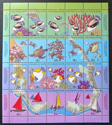 1994 Cocos Keeling Island Stamps - Map of Cocos - Mini Sheet MNH