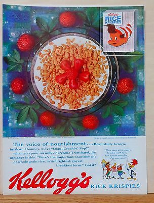 Vintage 1959 magazine ad for Kellogg's Rice Krispies - Woody Woodpecker, Crackle