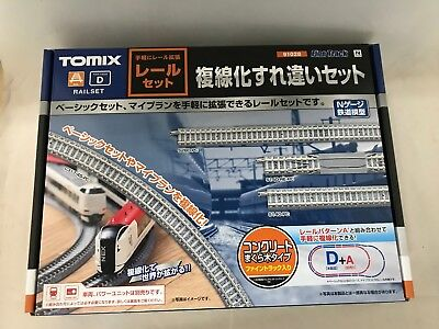 TOMIX N scale Rail Set Double Track Misspelled Set D Pattern 91028