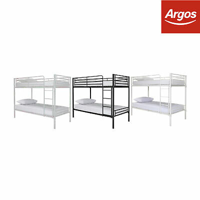 Argos Home Samuel Shorty Bunk Bed with Elliott Mattress - Colour Choice