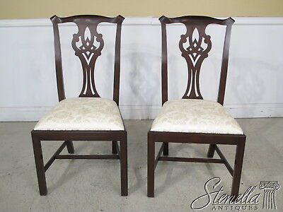 36706C: Pair HENKEL HARRIS Chippendale Mahogany Dining Chairs model #102S~ New