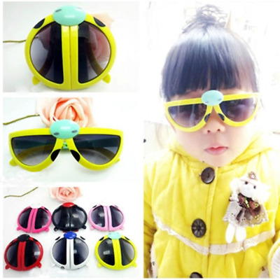 Novelty Foldable Cute ladybug Sunglasses Goggles For Baby Kids Boys Girls