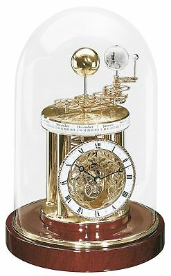 Hermle -astrolabium- 22836-072987 Table Clock with Battery-Powered Quartzwerk