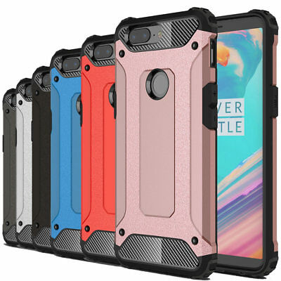 Dooqi Shockproof Tough Hybrid Bumper Armor Protective Cover Case For OnePlus 5T