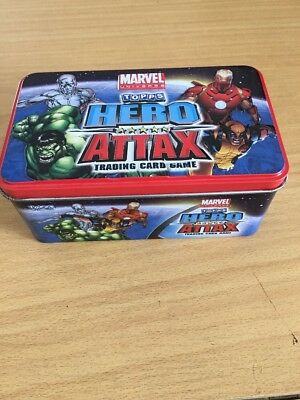 Marvel Hero Attax Trading Cards Series 1 Tin With Cards