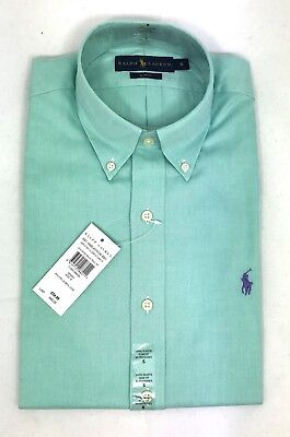 Polo Ralph Lauren Mens Genuine New Green Slim Fit Cotton Oxford Shirts All Sizes