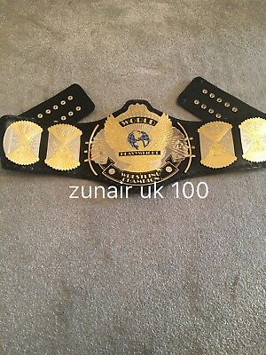 WWF Winged Eagle Replica  Dual Plated Gold/silver Leather Belt,with  Carry Case