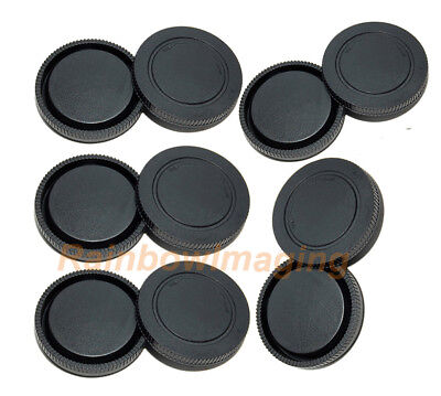 5 x Lens Rear Caps and Body Cap for Sony a6500 a6300 a6100 a6000 a5100 NEX-5T a7