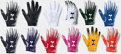 Under Armour Men's UA 2018 F6 Football Receivers Gloves Running Back Gloves