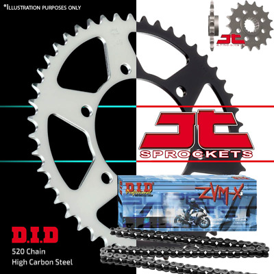 DID ZVMX X-Ring Chain and Sprocket Kit 15/43 JTF577.15 JTR18.43 520-110