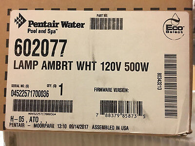 Pentair Amerbrite 602077 Pool Lamp White Replacement Light 120V 500W Luminaire