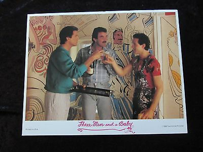 THREE MEN AND A BABY lobby card # 1 - TOM SELLECK, TED DANSON, STEVE GUTTENBERG