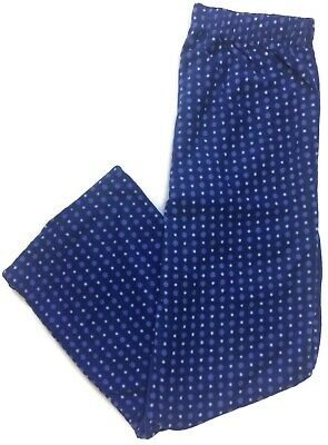 Great Northwest Fleece Pajama Pants Lounge Pants Sleep Womens Blue Polka Dot