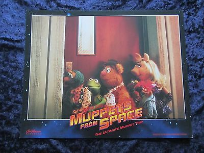 MUPPETS FROM SPACE lobby card # 2 KERMIT THE FROG, MISS PIGGY