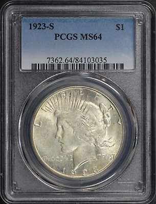 1923-S Silver Peace Dollar PCGS MS-64 -160985