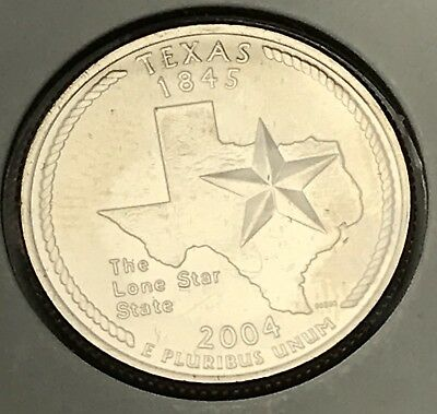 2004 Texas State Quarter. Collector Coin For Your Collection Or Set.