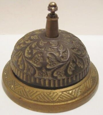 Old Antique Ornate Brass General Store Service Bell for Customer to Ring