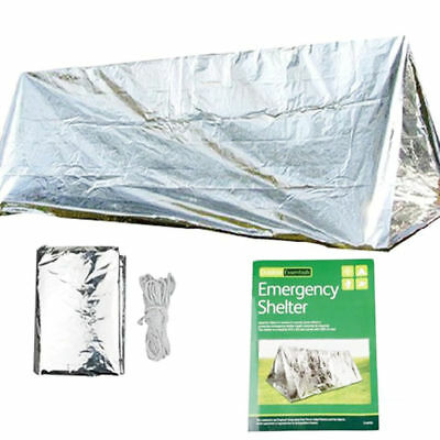 Silver Portable Camping SOS Shelter Emergency Shelter Emergency Tube Tent