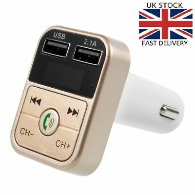 USB Car Kit Bluetooth FM Transmitter Wireless Radio Adapter Charger MP3 Player