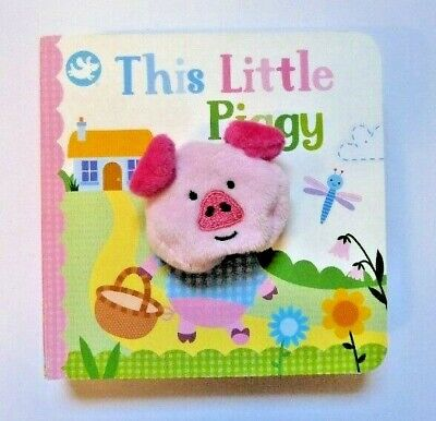 Little Learners This Little Piggy Finger Puppet Book, Kids Age 2+ yr, New, Gift