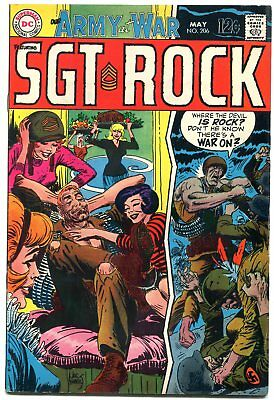 Our Army At War #206 1969-DC War comic- SGT Rock FN
