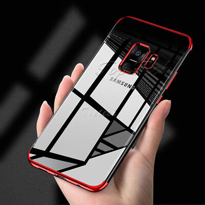 Samsung Galaxy S8 S9 S7 Stylish Hybrid Shockproof Plating Case Silicone Cover