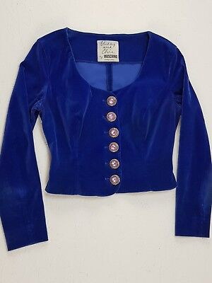 GIACCA MOSCHINO Cheap and Chic Blazer Jacket '80 '90 Colore Blu Taglia M L