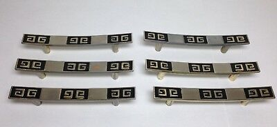 VINTAGE MID-CENTURY CHINOISERIE CABINET DRAWER FURNITURE PULLS HANDLES lot of 6