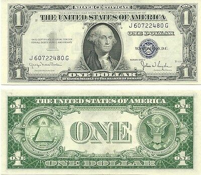 1935-D $1 Silver Certificate ** Wide ** Gem Crisp New ** Multiples Available