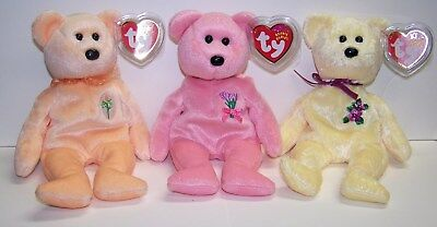 MOTHER/'s DAY MOM-e Bears 2004-2005 TY Beanie Babies 2002-2003