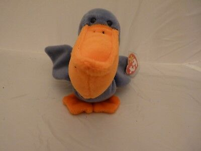 1996 Ty Original Beanie Babies SCOOP The Pelican w/Tags  (9 inch)