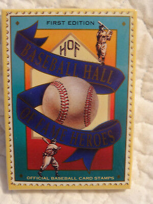 First Edition HOF Hall of Fame Heroes Baseball Card Stamps Sealed 12 Card Set
