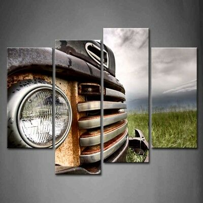 Framed Old Vintage Cars Wall Art Painting Pictures Canvas Print Car Picture