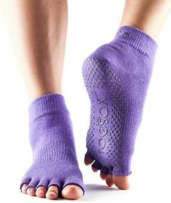 ToeSox Toe Socks Without Ankle - Light Purple, Large