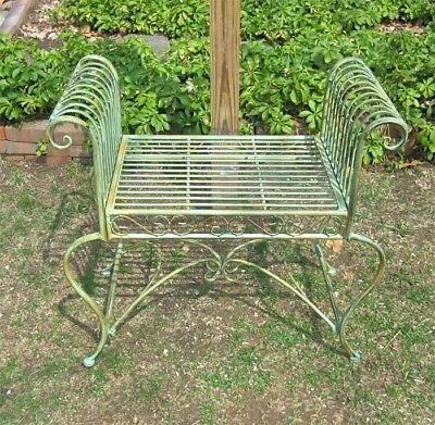 Miraculous Garden Bench Plant Stand Wrought Iron Antique Mint Pdpeps Interior Chair Design Pdpepsorg