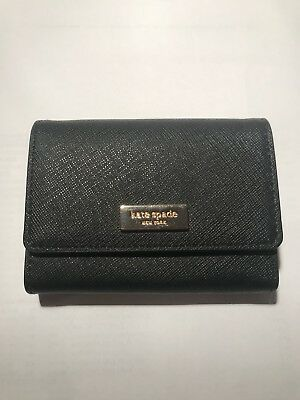 Kate Spade Holly Laurel Way Business Card Case Black New w/o Tag