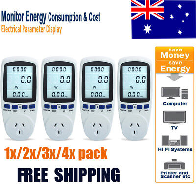 Power Energy Monitor Consumption Watt Meter Electricity Usage Monitor Socket AU