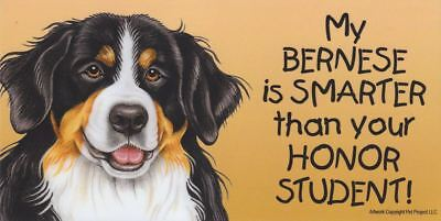 "Bernese Smarter Than Your Honor Student Magnet 4""x8"" refrigerator locker car dog"