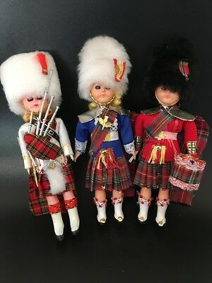 VINTAGE Scottish Dolls - Sleepy Eyes - Lot of 3
