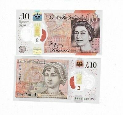 1 British £ 10.00 Pounds Real Currency Perfect For Your Travel