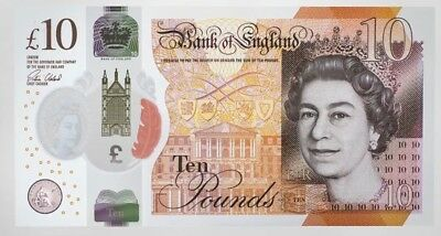 1 British  £10.00 Pounds Real Currency Perfect For Your Travel
