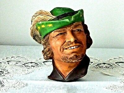 Collectable Vintage Chalk Head Robin Hood Bosoms England C 1960's
