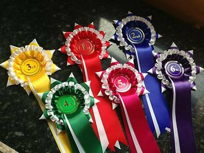 5 sets of 1st to 6th 3 tier star point placing rosettes
