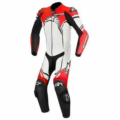 Alpinestars GP Plus Leather One Piece Race Motorcycle Suit White/Black/Fluo Red
