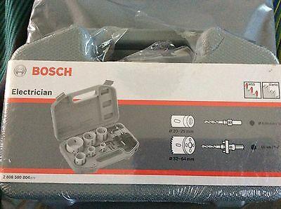 Bosch electrician HSS Bi Metal Holesaw Kit 9 Piece- Drilling DIY Saw -2608580804
