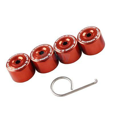 Pack of 4 17mm Wheel Lug Nut Bolt Cover Caps for VW Volkswagen Fox Red